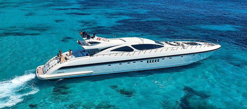 Overmarine - Nice Mangusta 130 2005 TissoT Yachts Charter Switzerland
